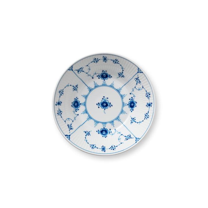 Musselmalet Ribbed plate deep Ø 17 cm from Royal Copenhagen