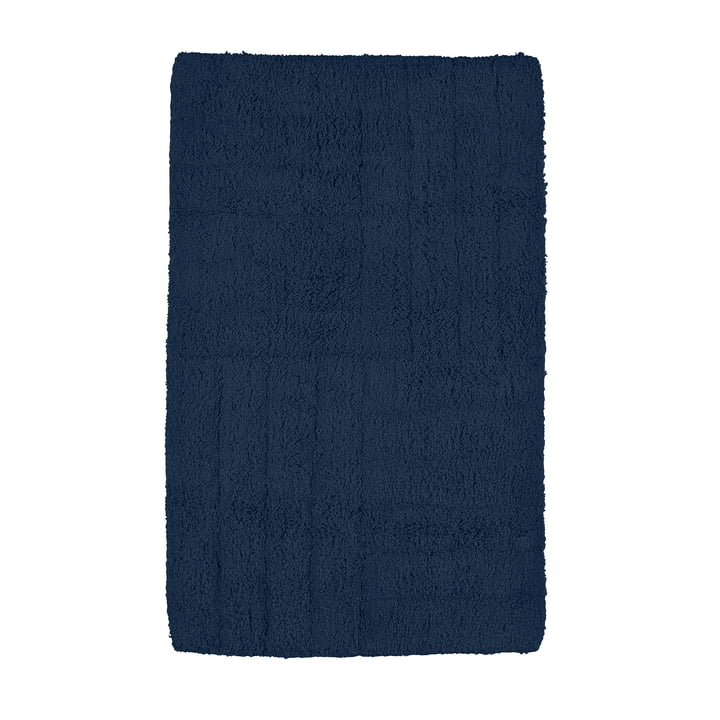 Classic bathroom mat 80 x 50 cm in dark blue from Zone Denmark