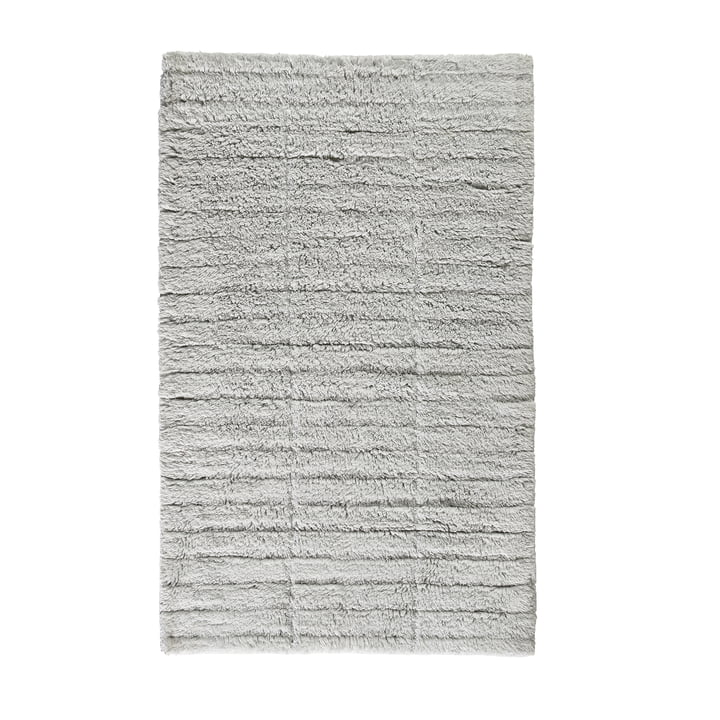 Soft Tiles bathroom mat, 80 x 50 cm in pure gray by Zone Denmark