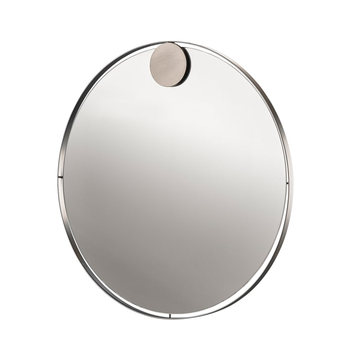 Hooked on Rings mirror Ø 50 cm in stainless steel from Zone Denmark