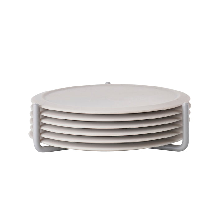 Glass coaster in warm grey (set of 6) from Zone Denmark