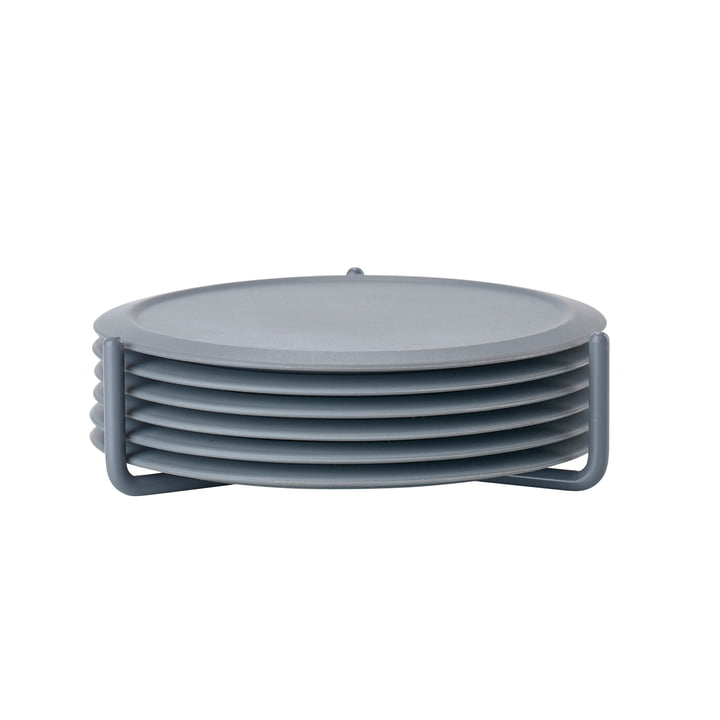 Glass coaster in cool grey (set of 6) from Zone Denmark