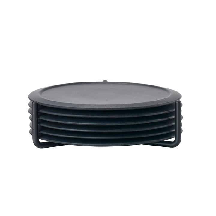 Glass coaster in black (set of 6) from Zone Denmark