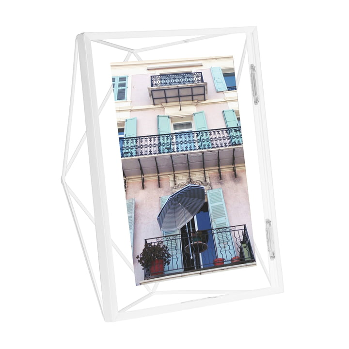 Prism picture frame 10 x 15 cm in white by Umbra