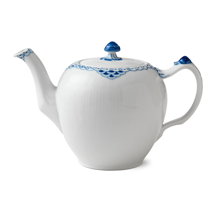 Princess teapot 1 l in white / blue from Royal Copenhagen