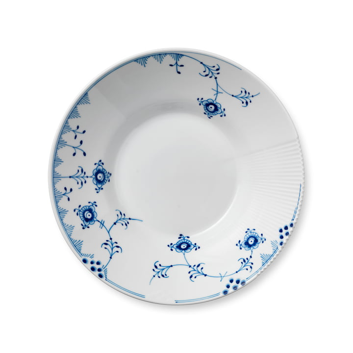 Elements Blue Soup Plate deep Ø 25 cm from Royal Copenhagen