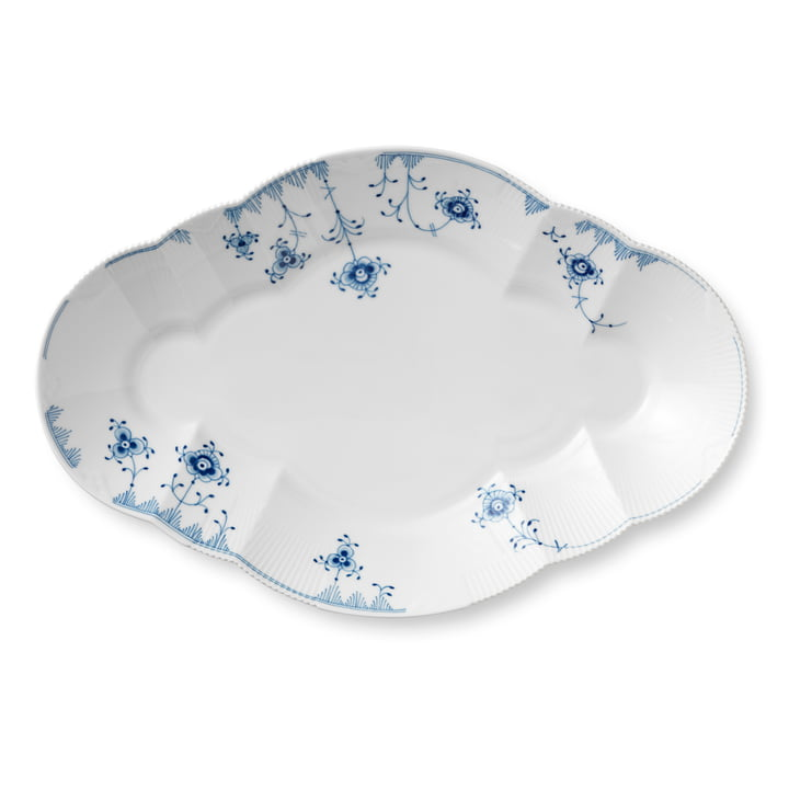 Elements Blue serving plate 38,5 cm in white / blue by Royal Copenhagen
