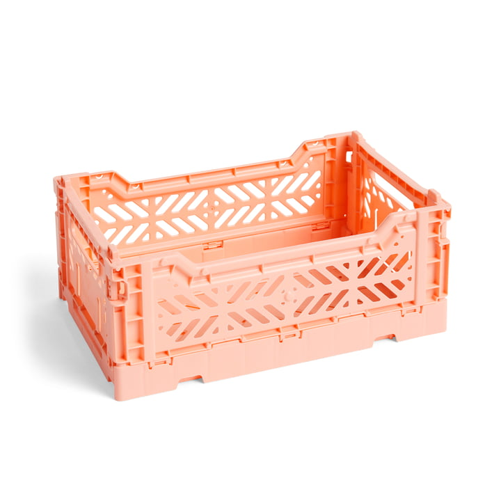 Colour Crate basket S, 26,5 x 17 cm from Hay in salmon colour