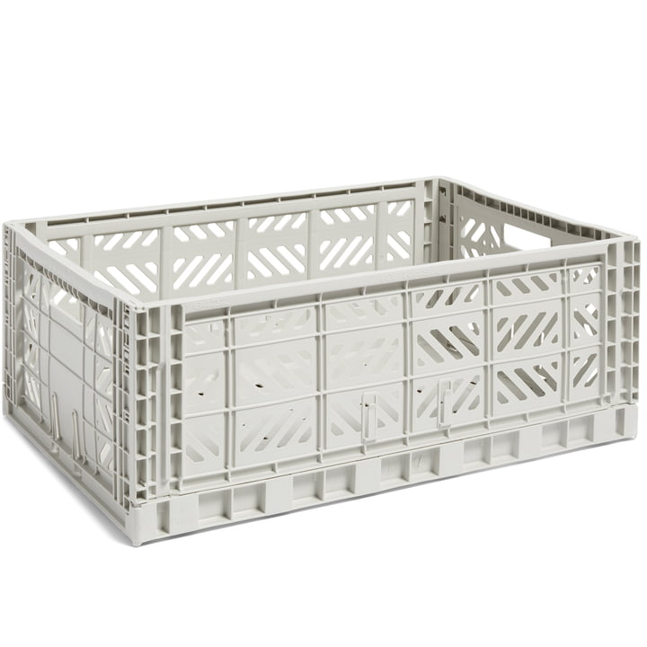 Colour Crate basket L, 60 x 40 cm from Hay in light grey