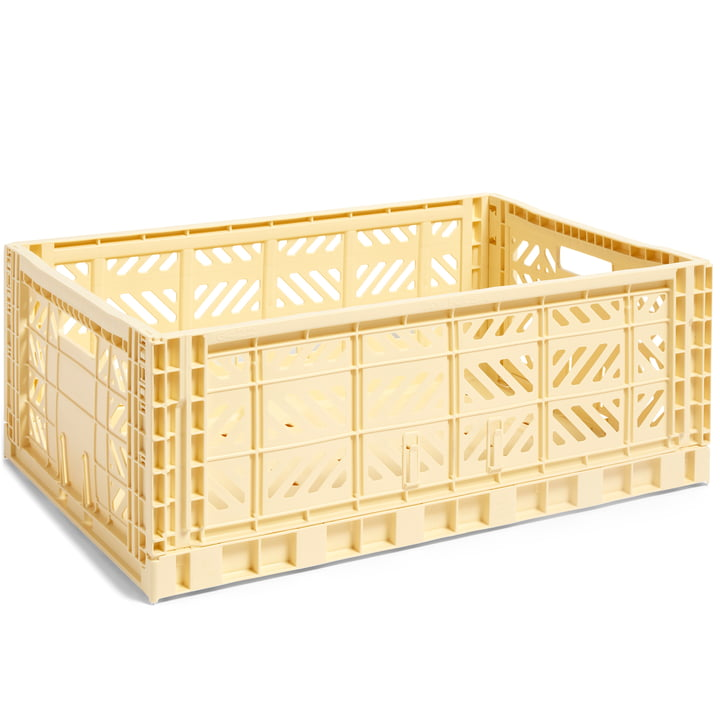 Colour Crate basket L, 60 x 40 cm from Hay in light yellow