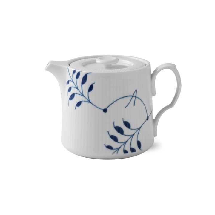 Mega Blue Ribbed teapot 75 cl from Royal Copenhagen