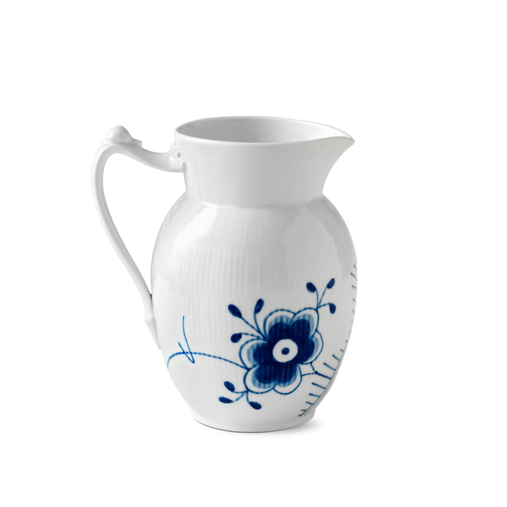 Mega Blue Ribbed Jug 1,7 l from Royal Copenhagen