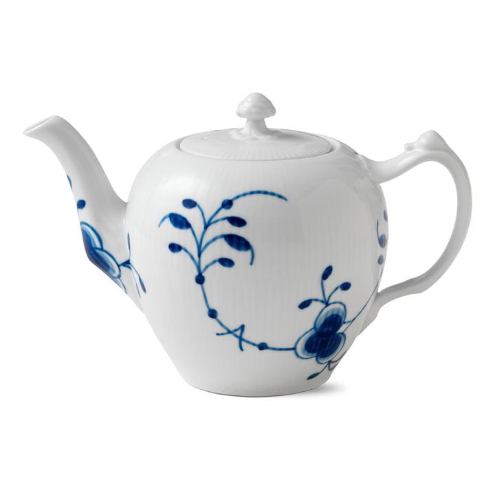 Mega Blue Ribbed Teapot 1 l of Royal Copenhagen