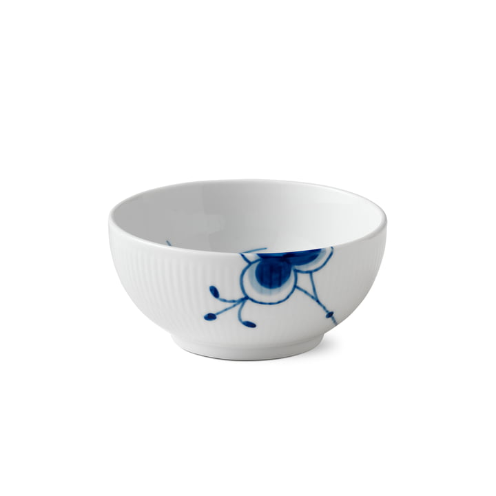 Mega Blue Ribbed Bowl Ø 13 cm from Royal Copenhagen