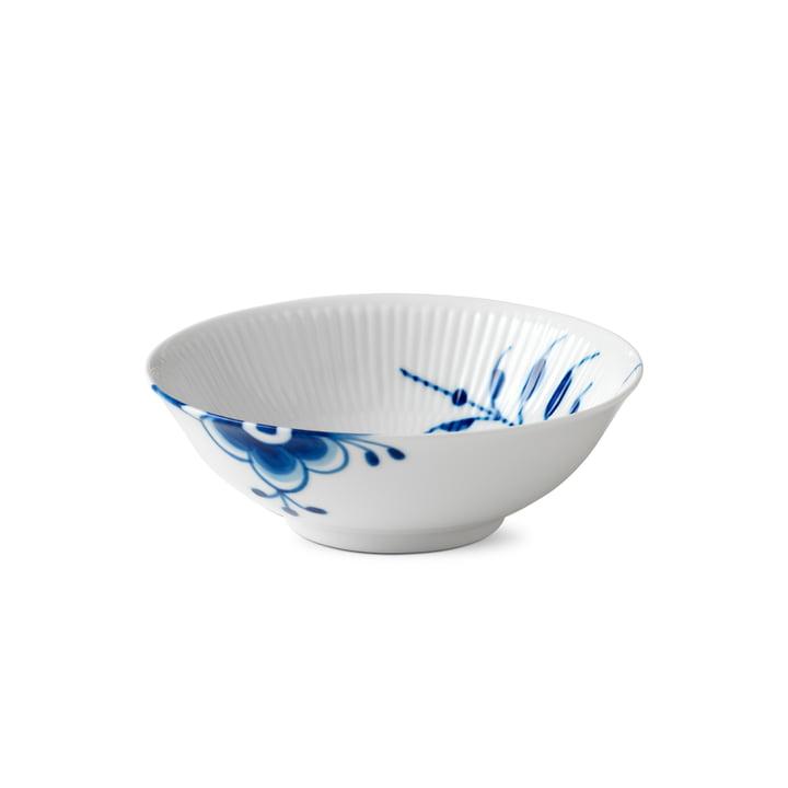 Mega Blue Ribbed Compot Bowl Ø 16 cm from Royal Copenhagen