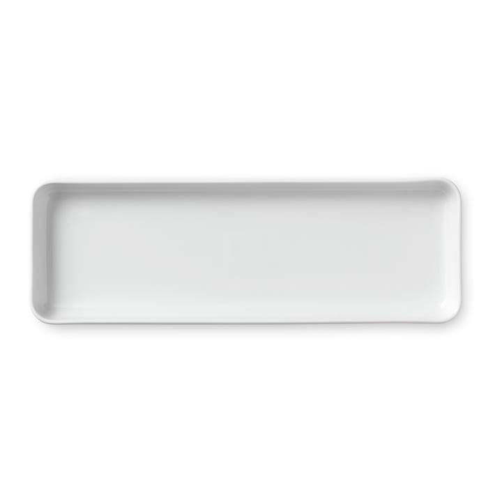 White Ribbed serving dish rectangular 36 cm from Royal Copenhagen
