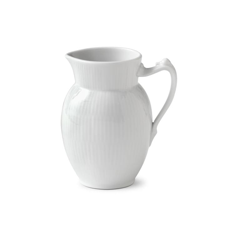 White Ribbed Pot 38 cl from Royal Copenhagen
