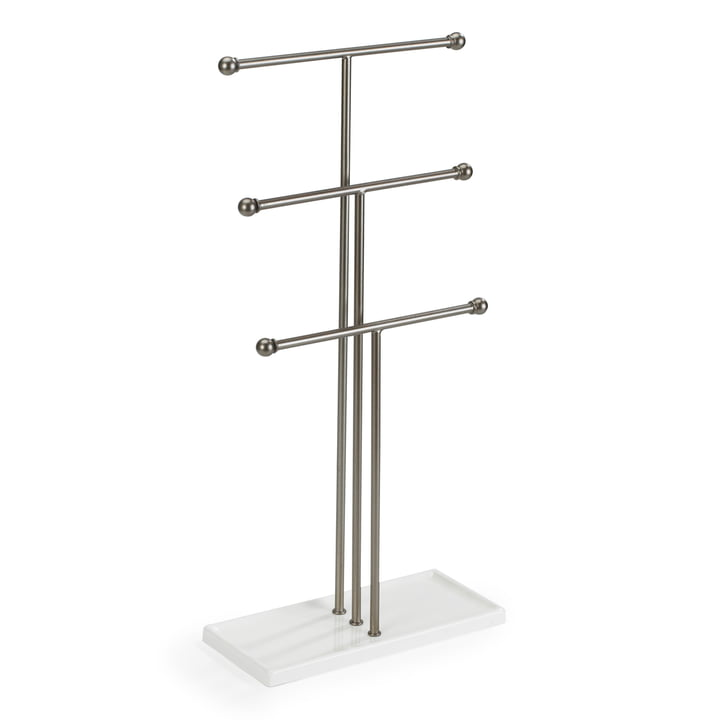 Trigem jewelry stand in nickel / white from Umbra