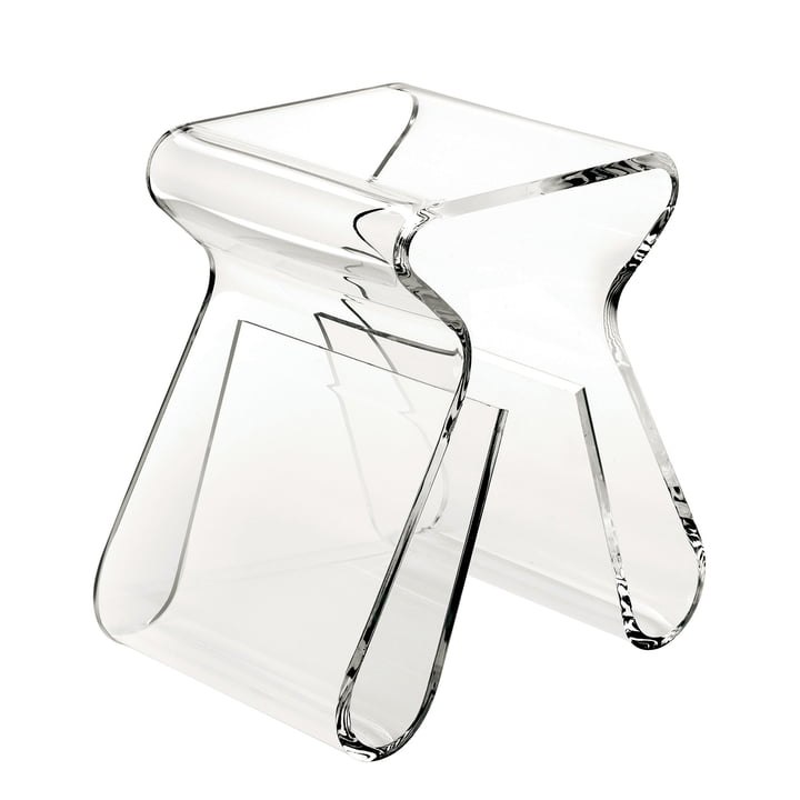 Magino stool and magazine collector in clear from Umbra