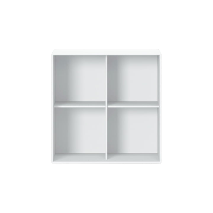 Show shelf module 1112 with wall suspension from Montana in new white