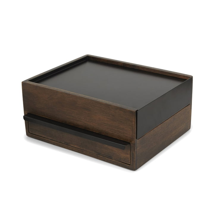 Stowit jewellery box in walnut / black from Umbra