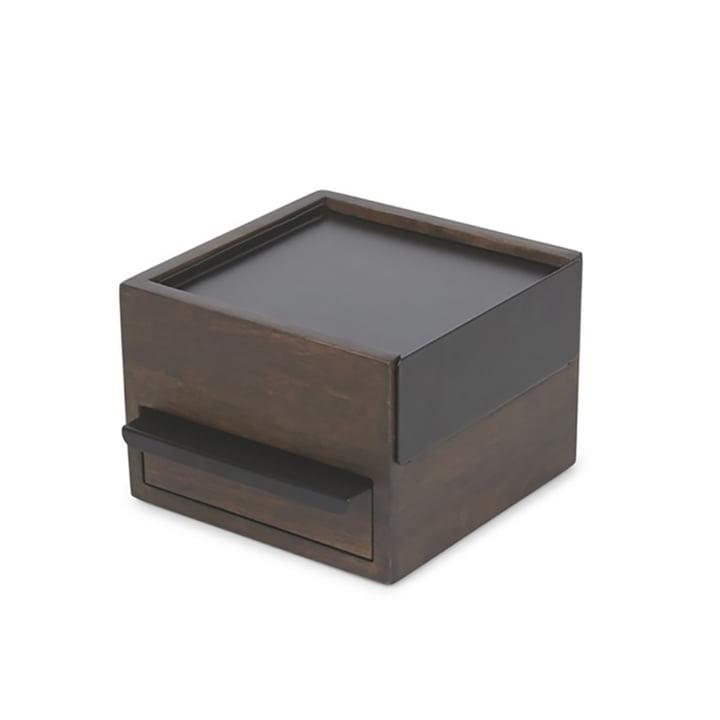 Stowit Mini jewellery box from Umbra in walnut / black