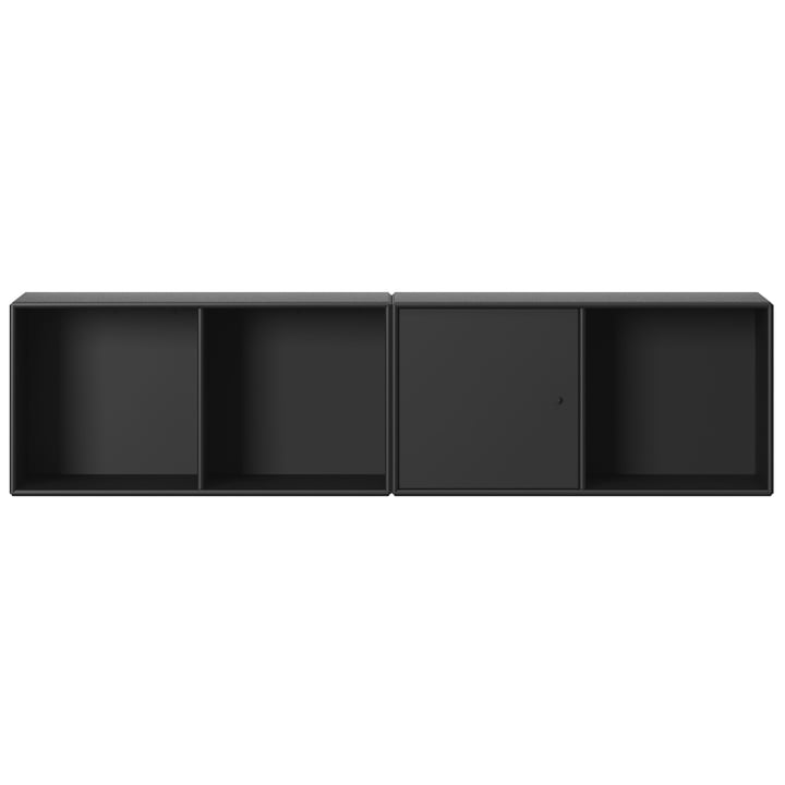 Line shelf with suspension from Montana in black