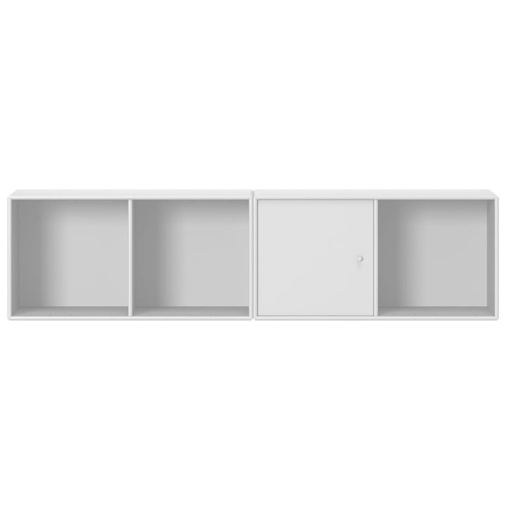 Line shelf with suspension from Montana in new white