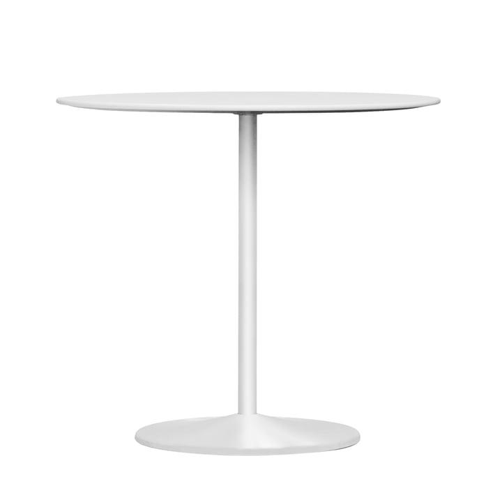 Panton dining table, Ø 90 x H 72 cm from Montana in laminate snow / snow