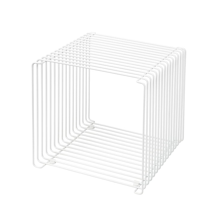 Panton Wire shelf / side table 34,8 cm from Montana in snow