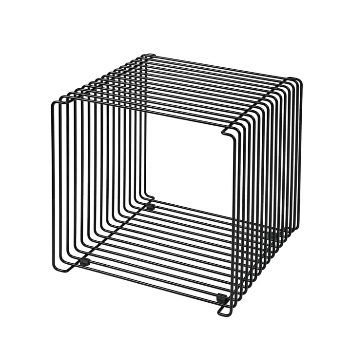 Panton Wire shelf / side table 34.8 cm by Montana in black