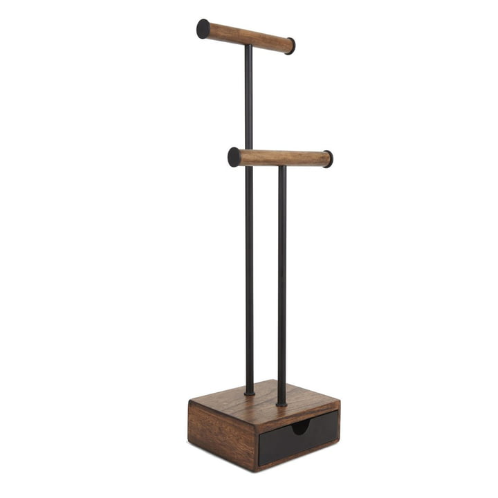 Pillar jewelry stand from Umbra in walnut / black