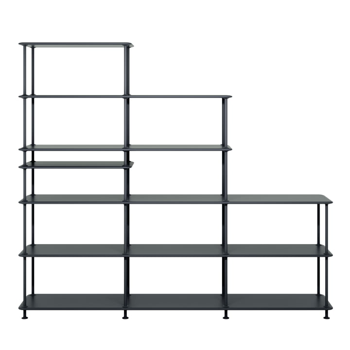 Free shelf system Stepped 542100 from Montana in black