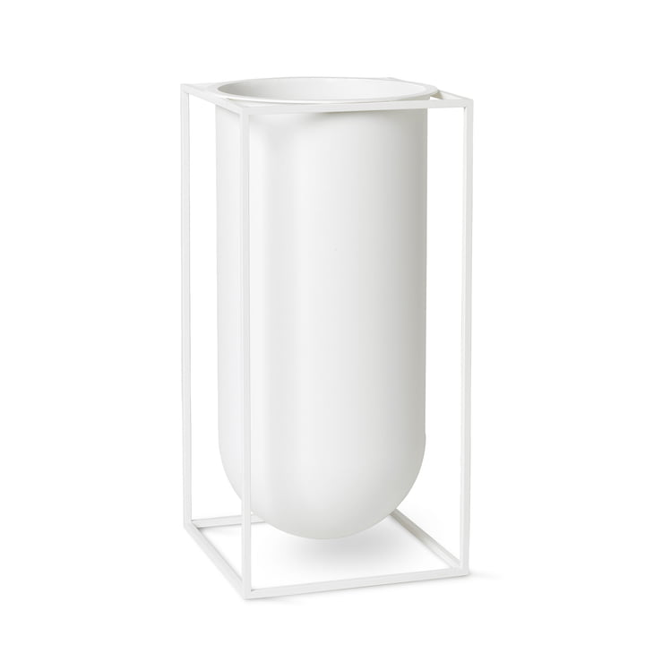 Kubus Vase Nolia by Lassen in white
