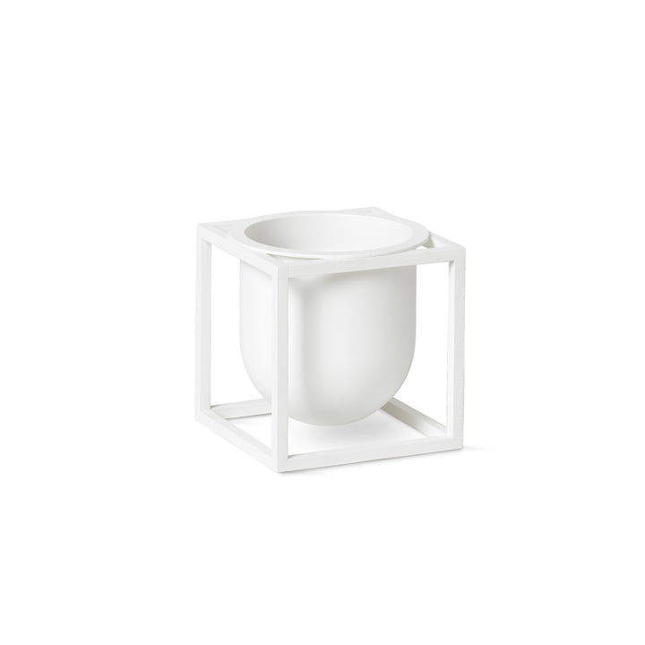 Kubus Flowerpot 10 by Lassen in white