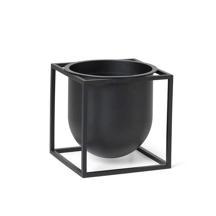 Kubus Flowerpot 14 by Lassen in black