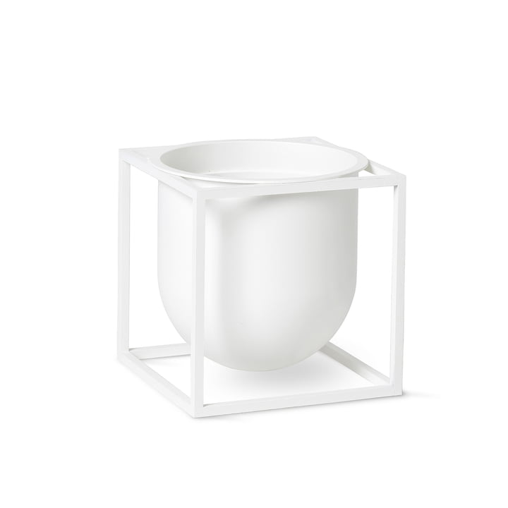 Kubus Flowerpot 14 by Lassen in white