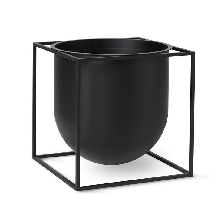 Kubus Flowerpot 23 by Lassen in black