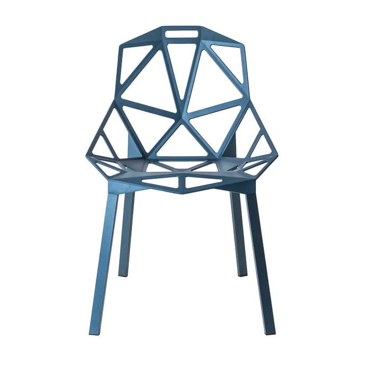 Chair One stacking chair by Magis in blue