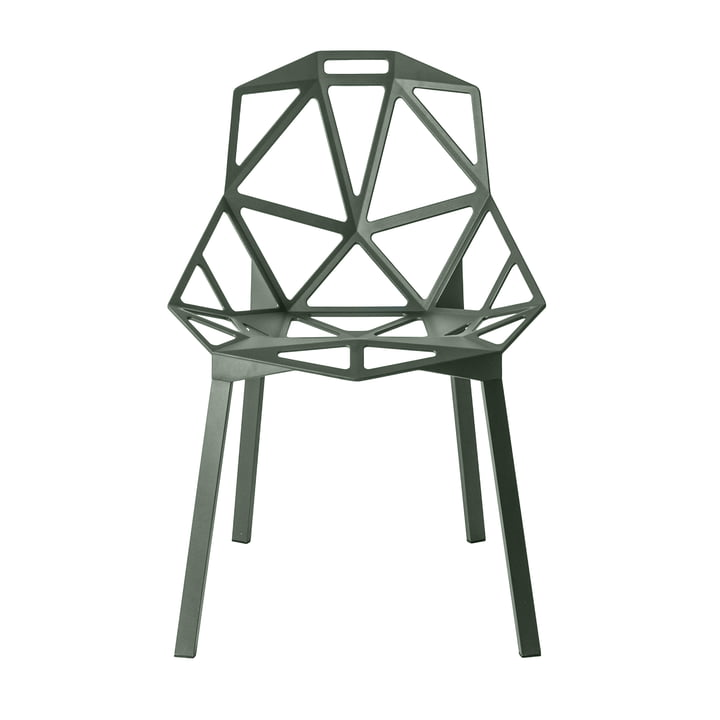 Chair One stacking chair by Magis in grey-green