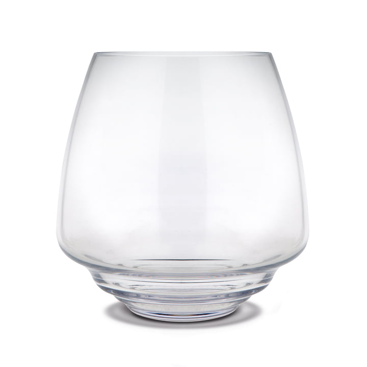Flow Block candle holder Ø 18,5 cm from Holmegaard in clear