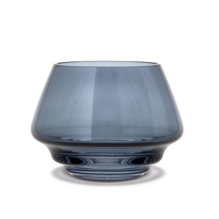Flow tealight holder Ø 10 cm from Holmegaard in blue