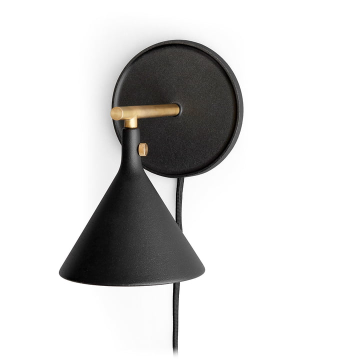 Cast Sconce wall lamp in black by Menu