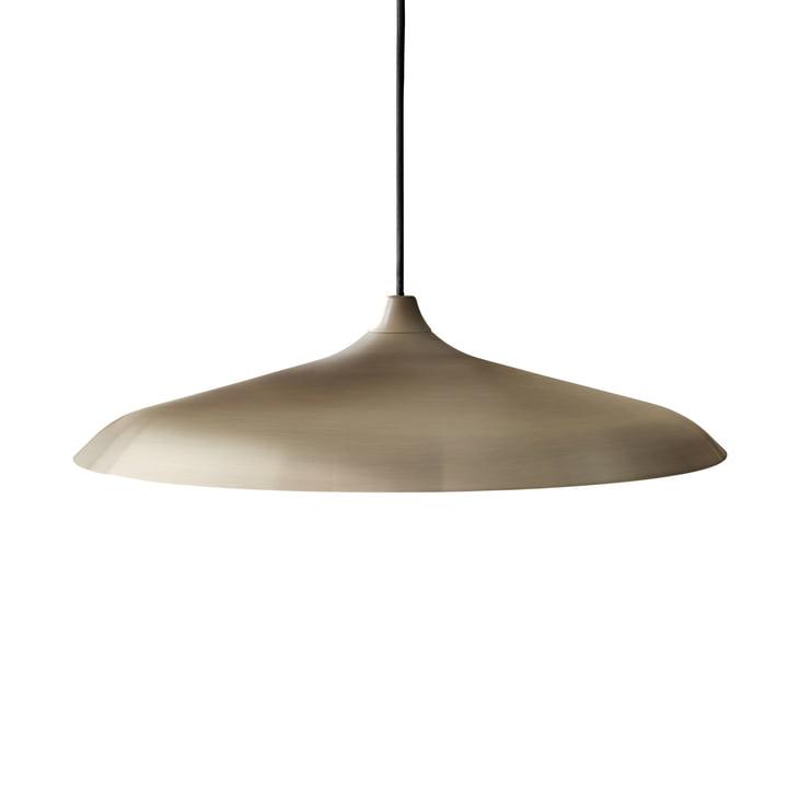 Circular pendant lamp in bronze brushed by Menu