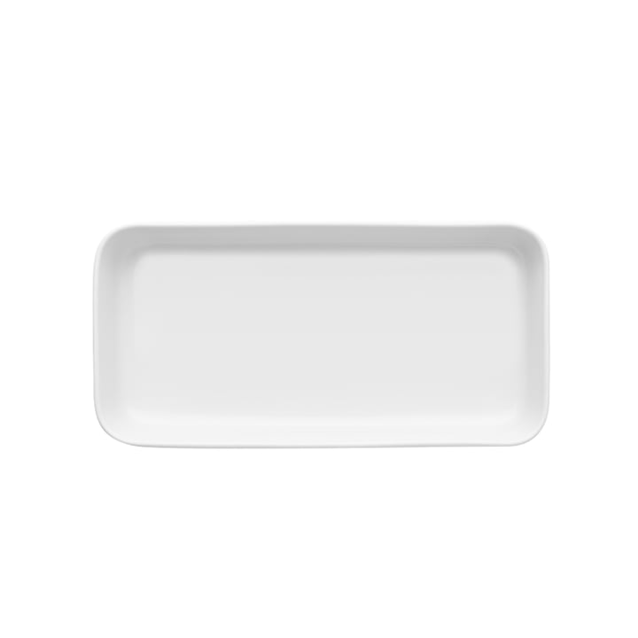 Legio Nova serving plate 24 x 12 cm from Eva Trio in white
