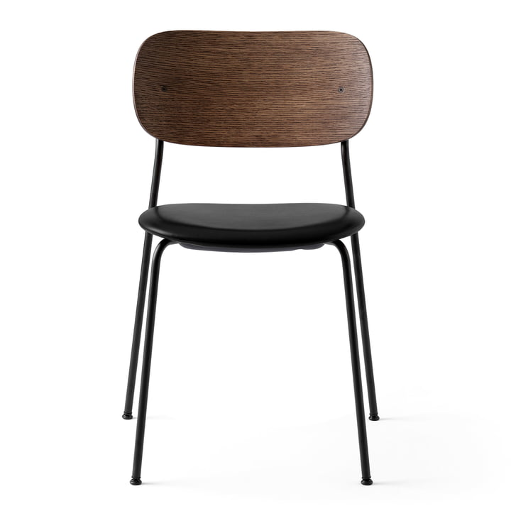 Co Dining Chair in black / Leather black / Oak stained by Menu