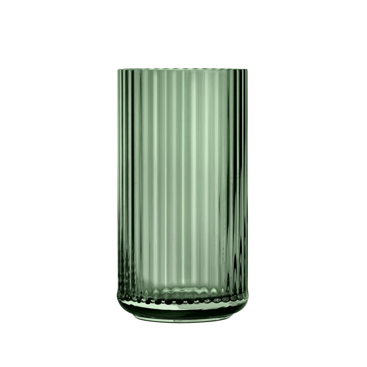 Glass vase H 20 cm from Lyngby Porcelæn in green