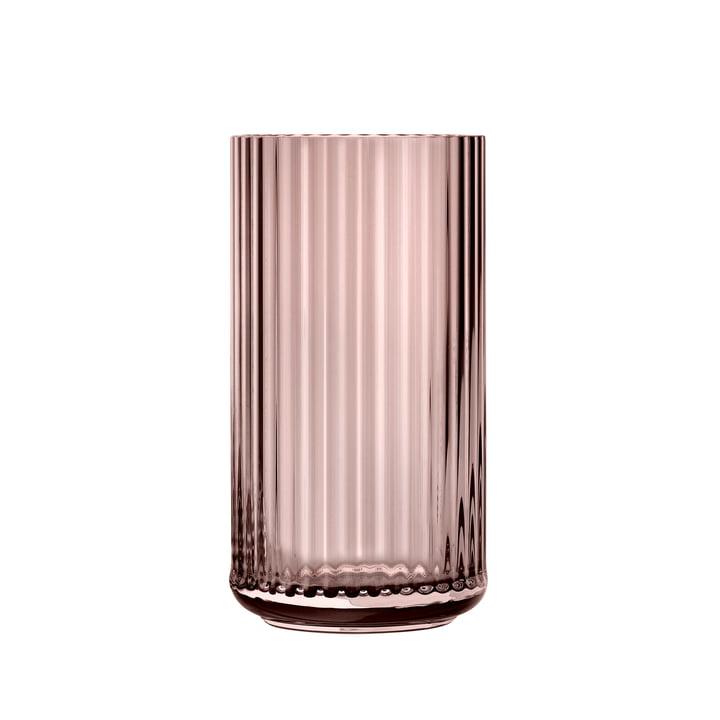 Glass vase H 20 cm from Lyngby Porcelæn in burgundy