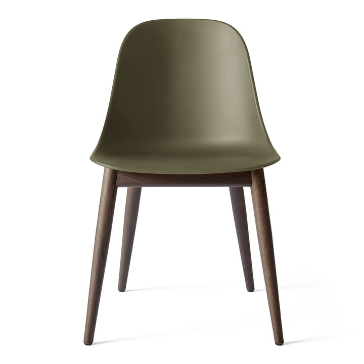 Harbour Dining Side Chair in dark stained oak / olive by Menu