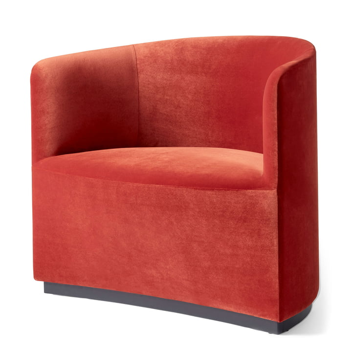 Tearoom Club Chair in velvet red (City Velvet CA7832/062) by Menu